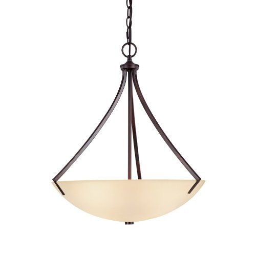 Capital Lighting 4038BB Pendant with Mist Scavo Glass Shades, Burnished Bronze (Stanton 3 Light Pendant)