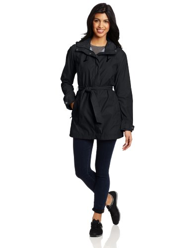 Columbia Women's Pardon My Trench Rain Jacket, Black, Small