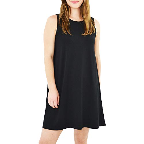 - Lilla P Side Panel Swing Dress in Black(Medium, Black)