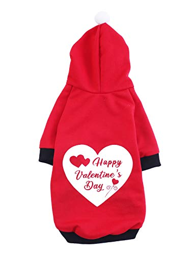 Coomour Pet Dog Happy Valentine's Day Hoodies