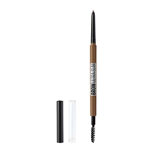 Maybelline New York Brow ultra slim defining eyebrow pencil, Soft Brown, 0.003 Ounce (Best Dark Brown Eyebrow Pencil)