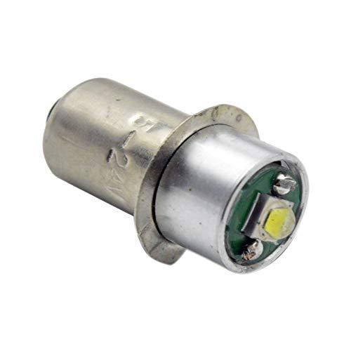 Ruiandsion 1pc P13.5S Socket 3W CREE LED for MAGLITE Latern Torchlight Flashlight Torch Headlight Bulb, 200LM, DC 3V 4.5V 6V 12V 18V 6000K White Negative Ground x 1pc (White)