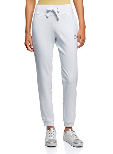 oodji Ultra Women's Jersey Active Pants, White, ()
