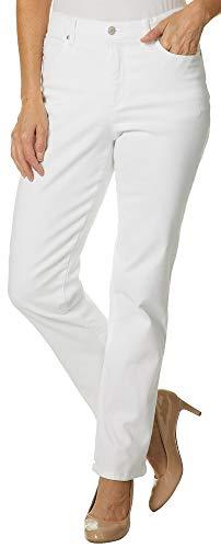 Gloria Vanderbilt Womens Amanda Classic Denim Jeans 8 Vintage White (Classic White Jeans)