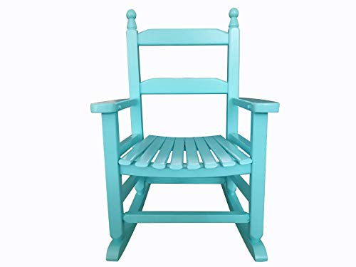 rockingrocker – K081BU Durable Bule Child s Wooden Rocking Chair Porch Rocker – Indoor or Outdoor – Suitable for 3-7 Years Old