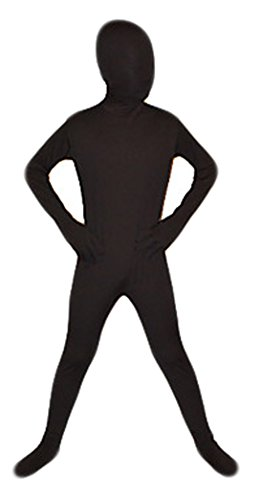 Seeksmile Kids Costume Full Body Lycra Zentai Suit (Large, Black)