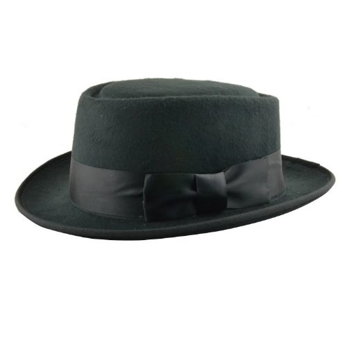 Breaking Bad Hat Walter White Cosplay Heisenberg Hat Pork Pie Cap in Black