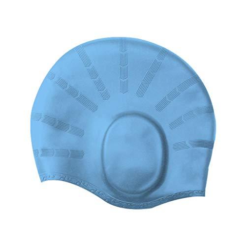 Adult Swimming Cap,Ear Protection Swim Cap Durable Elastic Silicone Pool Beach Swim Head Hat Waterproof ()