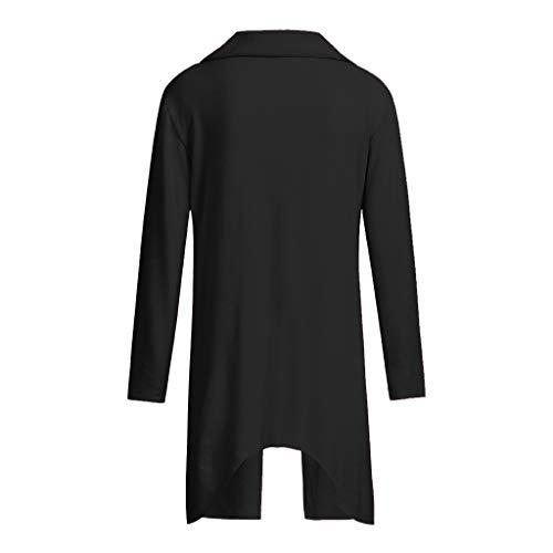 Lunga Camicetta Manica T Di Vendita Elegante Cerniera shirt Diagonale Liquidazione Tee Top Donna Hulky Nero qzvYxOwz