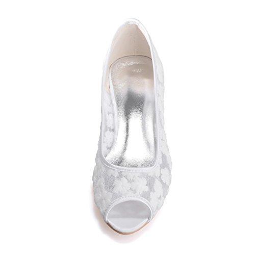 zapato prom bajos zapatos lace bodas toe tacones fiesta de szxf0700 corte peep 5qXYwXFZ