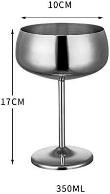 DishyKooker Edelstahl Cocktail Glas Weinkelche für Hochzeit Party Supplies Style DREI Roségold 350ml Haushalt