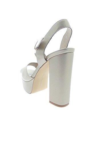 Luciano Barachini - Sandalias de vestir para mujer Platino/beige