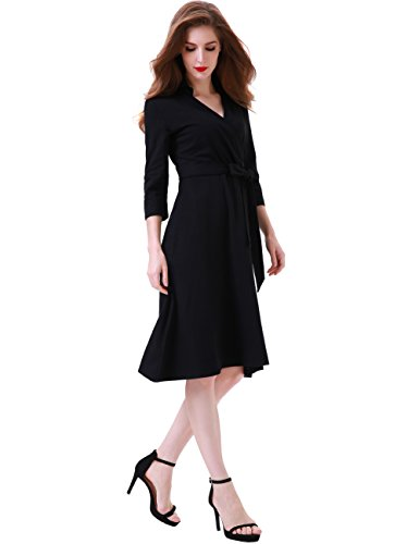 Valentine 3/4 Sleeve Black Dresses