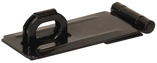 Hillman Hardware Essentials 851425 Fixed Staple Safety Hasp Black 3-1/2