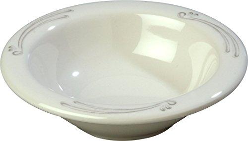 - Carlisle 43043909 Durus Rimmed Melamine Fruit Bowl, 4.75