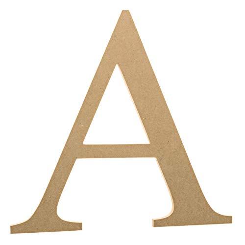 12 Wooden Greek Letter Alpha - Fraternity/Sorority Premium MDF Wood Letters (12 inch, Alpha)