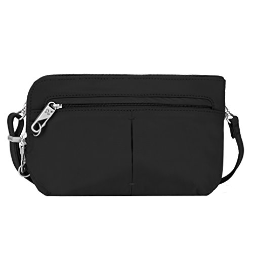 Anti Bag Shoulder Theft (Travelon Anti-Theft Classic Light Convertible Crossbody and Waistpack, Black, One Size - 42952 500)