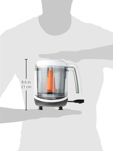 Baby Brezza Small Baby Food Maker Set - Steamer and Blender In One – Mix or Puree Baby Food for Pouches - Make Organic Food for Infants and Toddlers - Includes 3 Pouches and 3 Funnels by Baby Brezza (Image #3)
