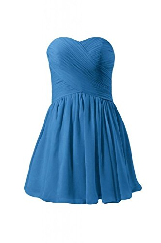 Dress BM800N Blue royal Dress Party Cocktail Strapless Dress Mini 37 Bridesmaid DaisyFormals R0q7W