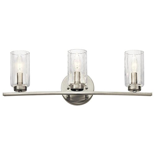 Kichler Marita 3-Light 22-in Brushed Nickel Cylinder Vanity Light by KICHLER (Image #2)