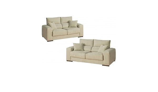 Conjunto de sofás tres mas dos plazas tapizado en tela en ...