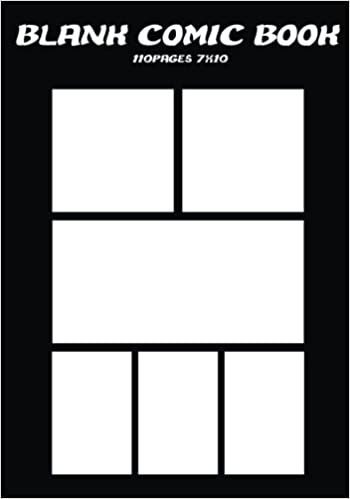 Amazon.com: Comic Book Pages : Blank Comic Books - 7x10 with 6 panel ...
