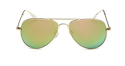 SOOLALA Children's UV400 Protection Anti-reflective Aviator Polarized Sunglasses, - Girl Aviator Sunglasses