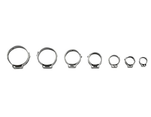 WGCD 80 PCS 304 Stainless Steel Single Ear Hose Clamps with Ear Clamp Pincer Kit, 7-21mm by WGCD (Image #6)