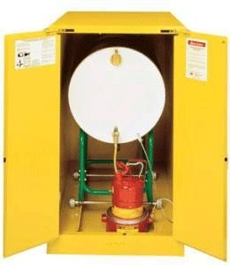 Vertical Roller Manual Justrite Safety Drum Storage Cabinets 2-30 gal