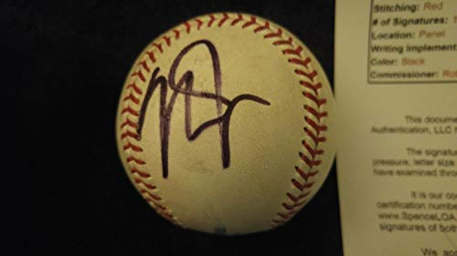 - Mike Trout Autographed Signed MLB Baseball With Field Use JSA Loa & Sticker - Authentic Memorabilia