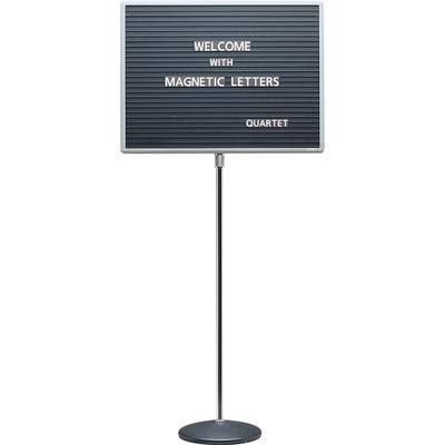 QRT7921M - Quartet Adjustable Single Pedestal Letter Board