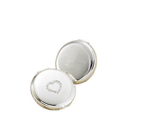 Sweetheart Silver Plated Compact (Silver Plated Compact Mirror)