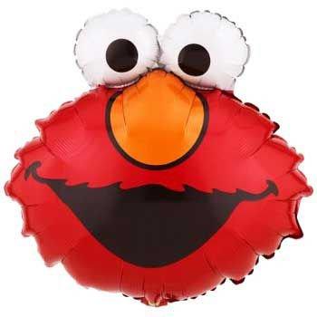 Mayflower Distributing Unisex Adult Elmo Jumbo Foil Balloon Black Medium - Elmos Shape