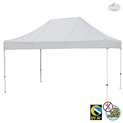 (King Canopy FSSHST15WH 10-Feet by 15-Feet Festival Steel Instant Canopy, White )