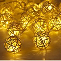 Marbles Cowboy Knife (Rattan Ball Led String Fairy Lights Christmas Tree Ornaments Xmas Decoration Warm White LED Lights Home Garden Decor)