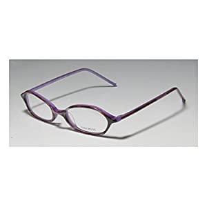 Vera Wang V132 Womens/Ladies Rxable Beautiful Designer Full-rim Eyeglasses/Eye Glasses (46-17-136, Horn Lilac)
