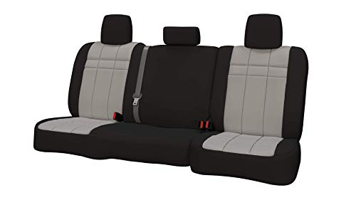 (Rear SEAT: ShearComfort Custom Neoprene-Style Seat Covers for Subaru Impreza Wagon and Hatchback (2008-2011) in Black w/Silver for 40/60 Split Back Solid Bottom w/ 3 Adjustable Headrests (All Mo.)