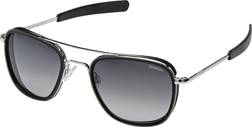 Randolph Men's Aviator 55mm Bright Chrome/Gray Gradient Nylon One Size