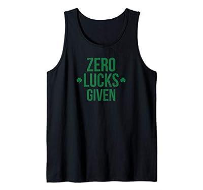Zero Lucks Given St. Patricks Day Lucky Irish Tank Top