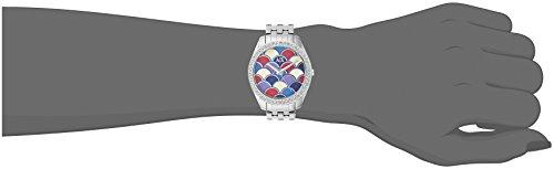Armani Exchange AX5526 Reloj analógico de cuarzo plateado con pantalla analógica para mujer