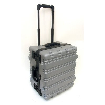 Super-Size Tool Case with Wheels and Telescoping Handle Color: Gray