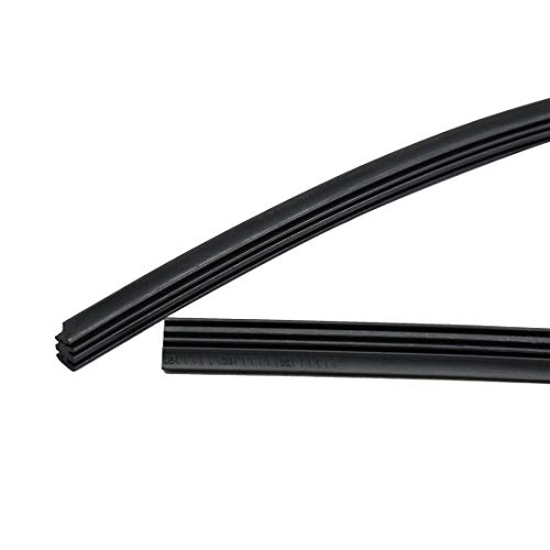 X AUTOHAUX 15pcs 25.6'' Windshield Windscreen Bracketless Wiper Rubber Refill Strip for Car by X AUTOHAUX (Image #3)