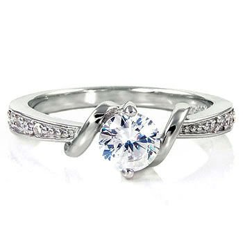 Sterling Silver Entwined Love Cubic Zirconia Women's Ring