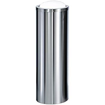 Amazon Com Dwba Tall Round Stainless Steel Wastebasket