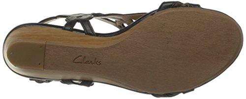 Clarks Playful Tunes - Zapatos de Cordones de cuero mujer negro - Noir (Black Leather)