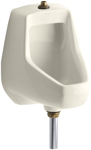 Kohler K-5024-T-47 Darfield Urinal with Top Spud, (Black Wall Mount Urinal)