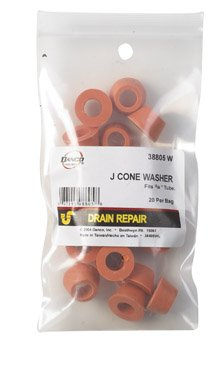 Danco Slip Joint Washer 3/8 '' Id. X 23/32 '' Od. X 5/16 '' H Rubber Bag / 20