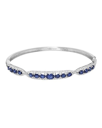 Diamond & Sapphire Bangle Bracelet - 3