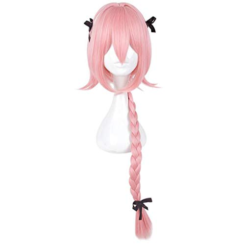 Pink Cosplay Wig Braid Cartoon Characters Dress Up Clothing Wig Apocrypha Fate Matte High Temperature Wire Wig