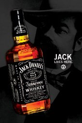 jack daniels jd bottle jack lives here large advert art poster  jack daniels jd bottle jack lives here large advert art poster 61 by 91 5cm